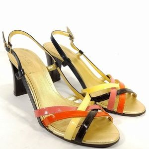 J. Crew Italy Strappy Patent Leather Pumps Sz 8